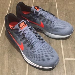 NEW NIKE ZOOM STRUCTURE 21 -gray -size 10.5